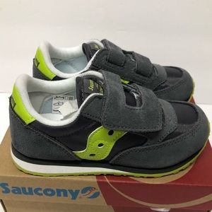 Saucony Baby Jazz Gray Leather Toddler Shoes 10